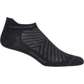 Icebreaker Run+ Ultra Light Micro Miehet sukat , harmaa/musta
